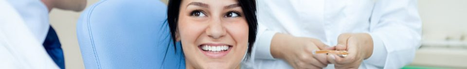 Welcome Image with picture of a smiling female